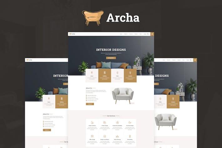 Thumbnail for Archa - Template Kit Elementor Design de Interiores e Arquitetura