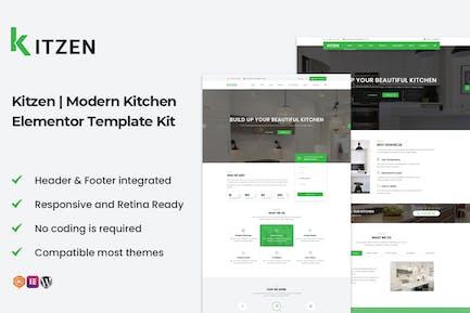 Kitzen | Modernes Küchenelementor Template Kit