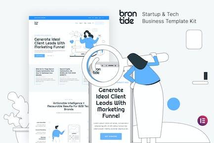 Brontide — Startup Elementor Template Kit für IT-Lösungen und Technologie