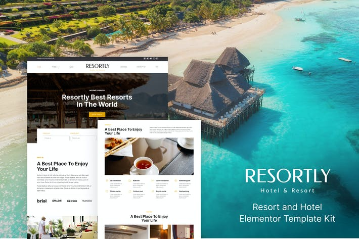 Thumbnail for Resortly - Resort & Hotel Elementor Template Kit
