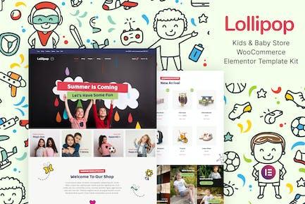 Lollipop – Kids & Baby Store WooCommerce Elementor Template Kit