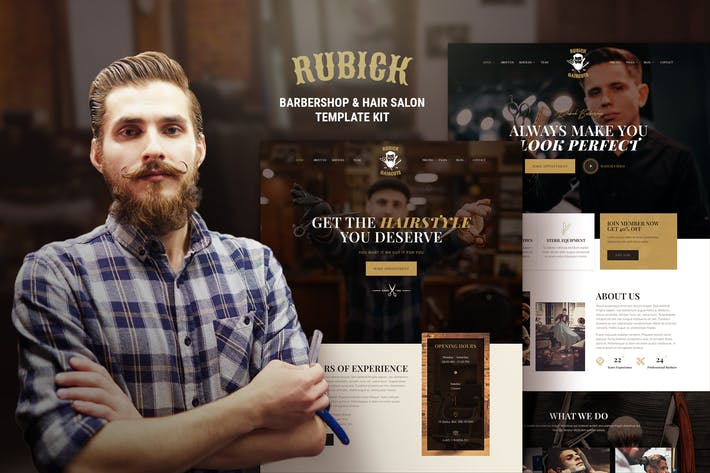 Thumbnail for Rubick - Barbershop & Hair Salon Elementor Template Kit