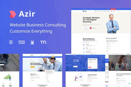 Azir | Finance Consulting Elementor Template Kit
