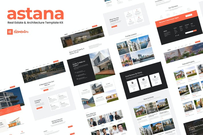 Thumbnail for Astana - Real Estate & Architecture Elementor Template Kit