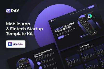 iZPay - Template Kit para Aplicación móviles y inicio de Fintech