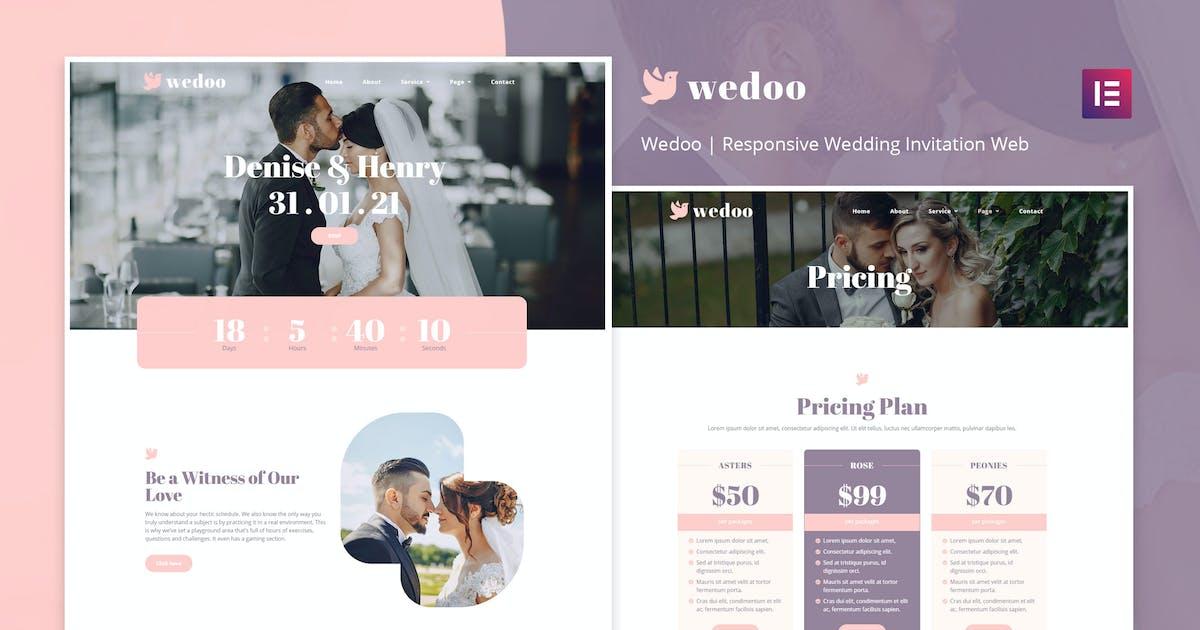 Download Wedoo - Online Wedding Invitation Elementor Template Kit by doodlia