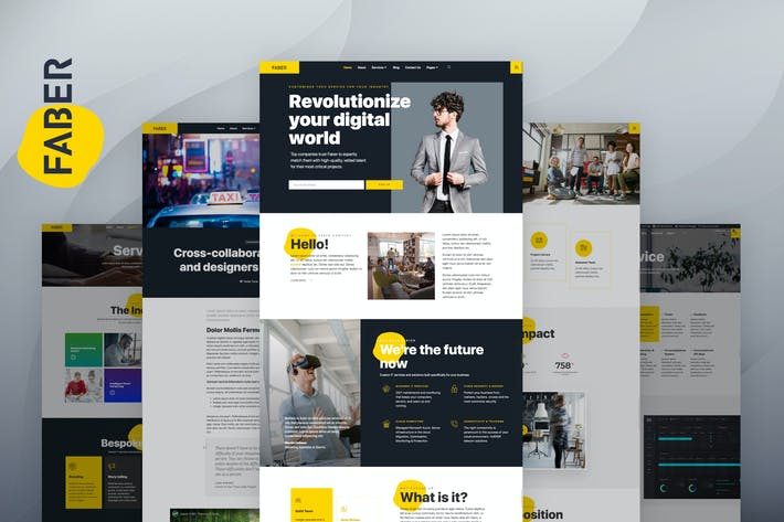 Thumbnail for Faber - Tech Company Elementor Template Kit