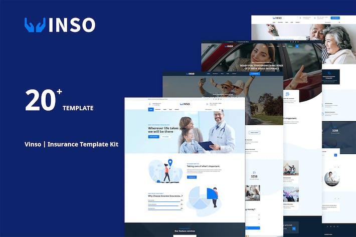 Vinso | Versicherungen Elementor Template Kit