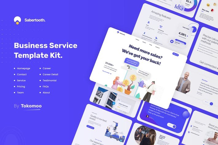 Thumbnail for Sabertooth | Business Service Elementor Template Kit