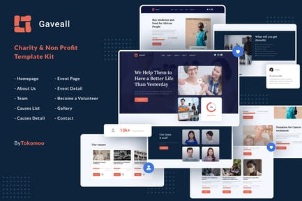 Gaveall | Charity Elementor Template Kit