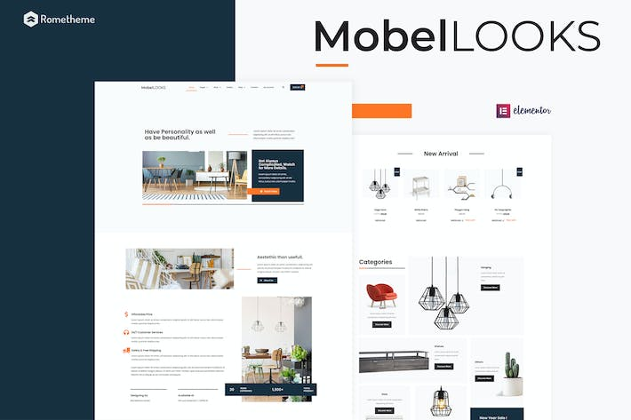Mobel Looks - Furniture Store WooCommerce Elementor Template Kit