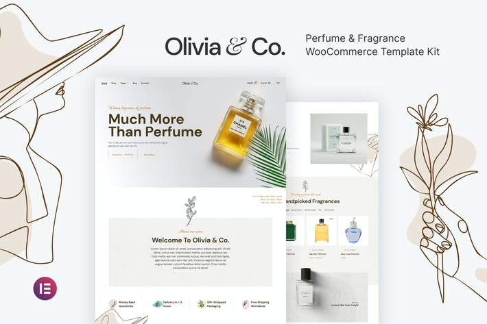 Olivia & Co — Perfume & Fragancia WooCommerce Template Kit