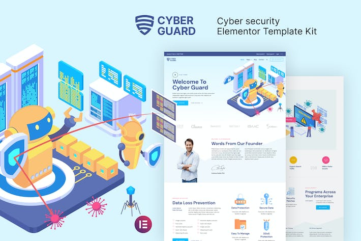 Cyberguard — Cyber Security Elementor Template Kit