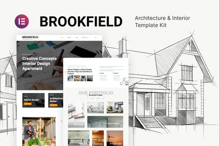 Brookfield – Architecture & Interior Design Template Kit