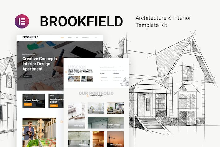 Brookfield — Template Kit für Architektur und Innenarchitektur