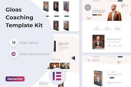 Gloas — Coach Speaker & Trainer Template Kit for Elementor