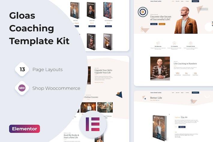 Thumbnail for Gloas — Enceinte Entraîneur Entraîneur Template Kit pour Elementor