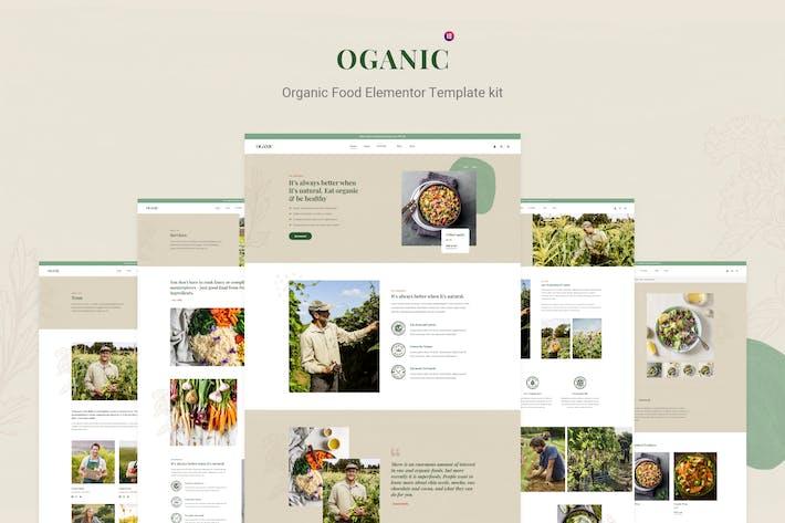 Oganic - Organic Food Elementor Template kit