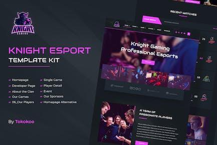 Knight   eSports & Gaming Elementor Template Kit