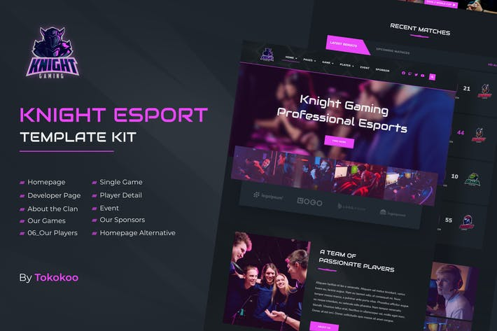 Knight | e-Sports Elementor Template Kit