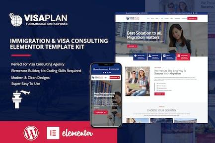 VisaPLAN - Elementor-Template Kit für Einwanderungs- und Visa-Beratung