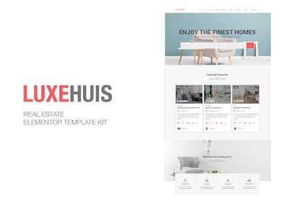 Luxehuis - Template Kit Elementor de Bienes Raíces