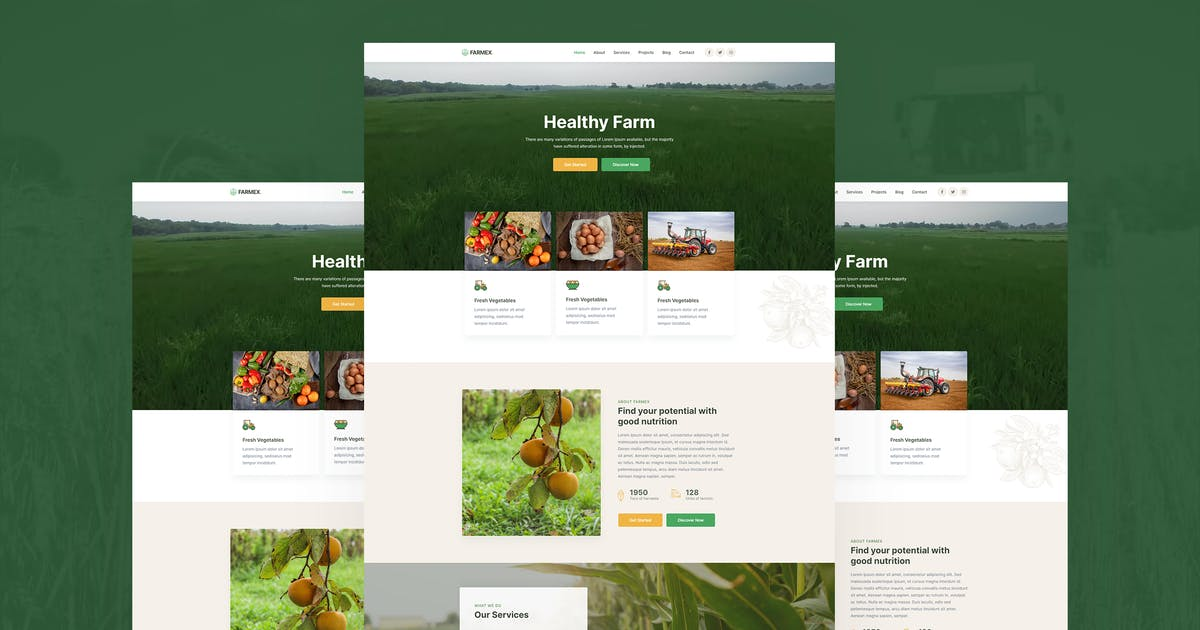 Download Farmex - Agriculture & Farm Template Kit by MeemCode