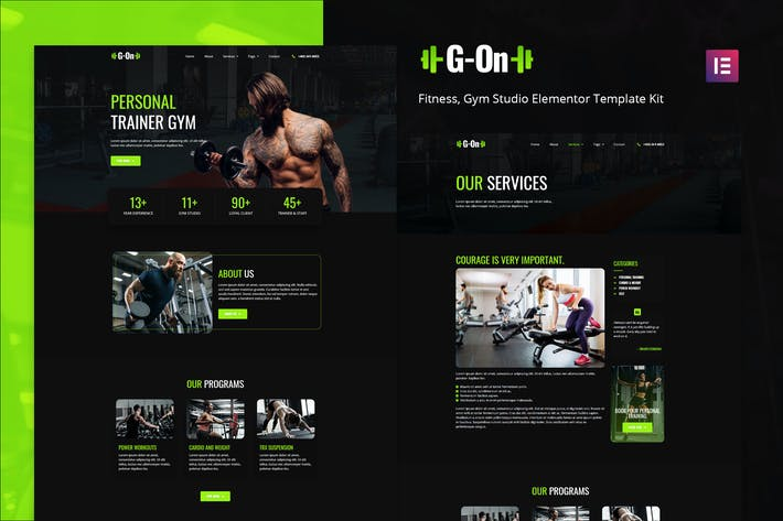 G-on - Fitness & Gym Elementor Template Kit
