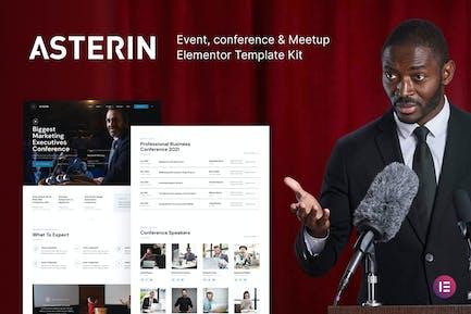 Asterin – Digital Event & Conference Elementor Template Kit