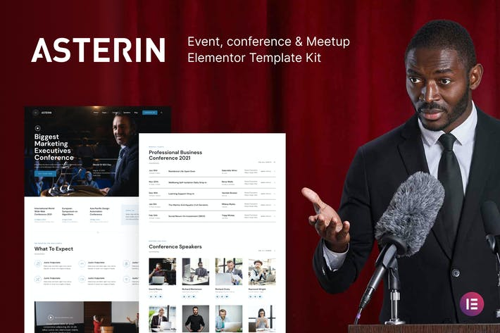 Asterin – Digital Event & Conference Elementor Template Kit