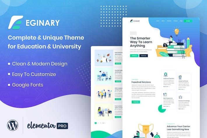 Eginary - Online Education Elementor Template Kit