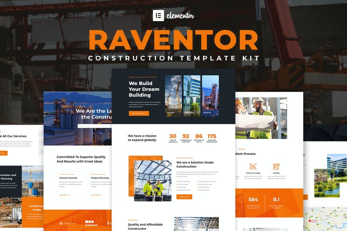 Thumbnail for Raventor - Construction & Architecture Elementor Template Kit