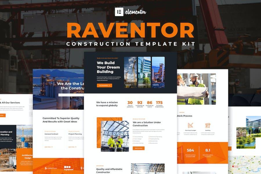 Raventor - Template Kit Elementor de Construcción y Arquitectura