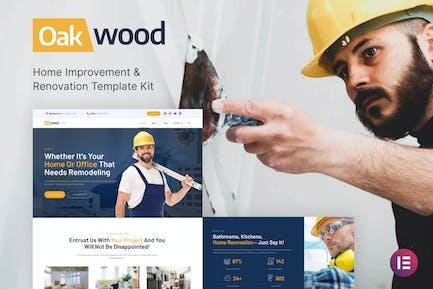 Oakwood - Home Improvement & Renovation Template Kit