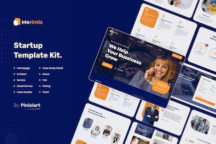 Merintis | Startup Elementor Template Kit