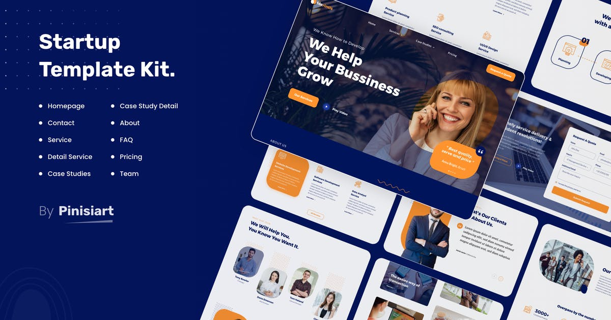 Download Merintis | Startup Elementor Template Kit by pinisiart