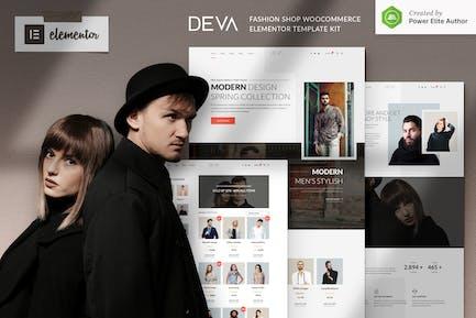 DEVA - Fashion Store WooCommerce Elementor Template Kit
