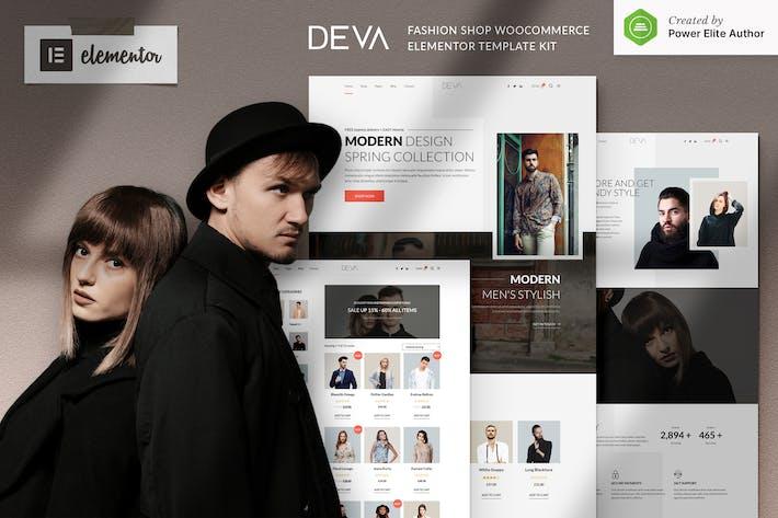DEVA - Tienda de moda WooCommerce Elementor Template Kit