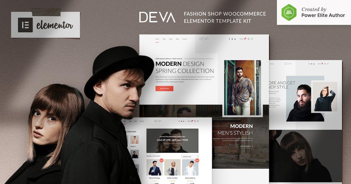 Download DEVA - Fashion Store WooCommerce Elementor Template Kit by jegtheme