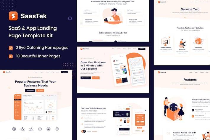SaasteK - SaaS & Technology Elementor Template Kit