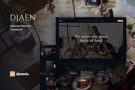 Djaen - Template Kit restaurante Elementor