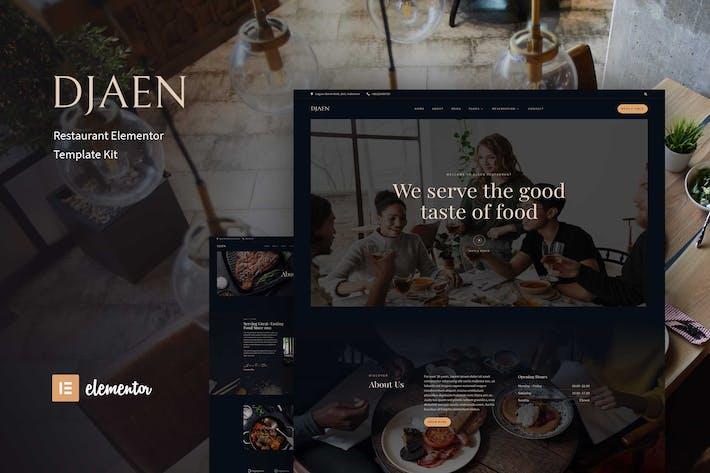 Djaen - Restaurant Elementor Template Kit