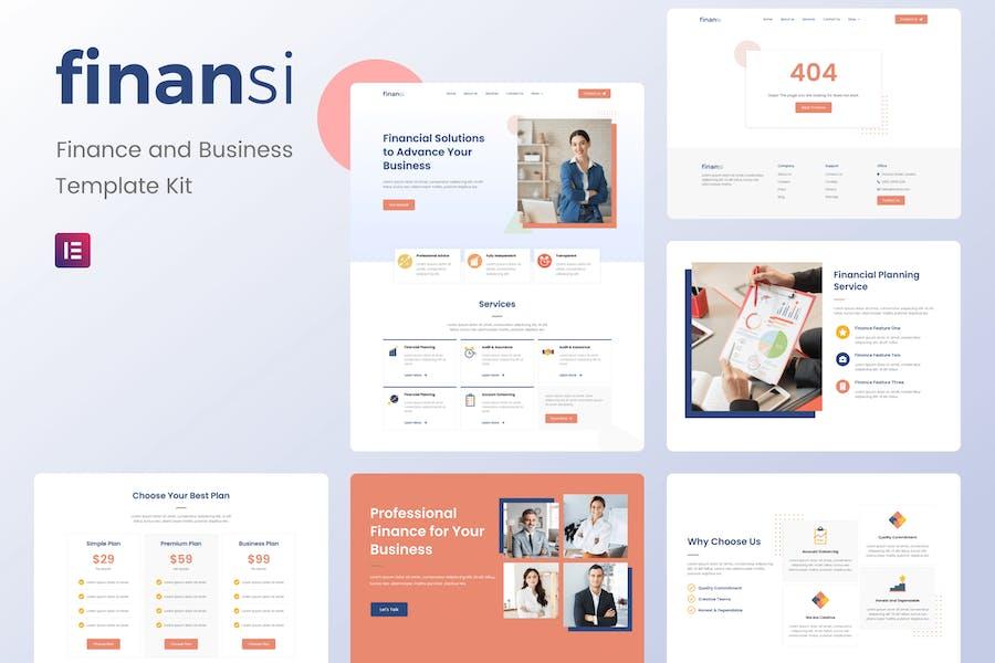 Finansi - Finanzen & Business Elementor Template Kit