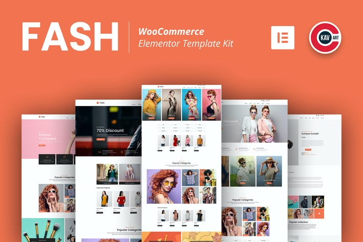 Fash - WooCommerce Elementor Template Kit