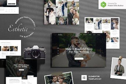 Esthetic – Wedding Photography Elementor Template Kit