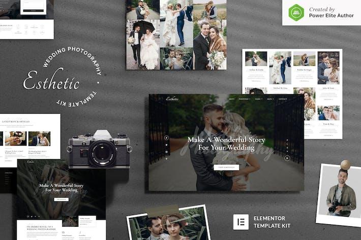 Esthetic — Hochzeitsfotografie Elementor Template Kit