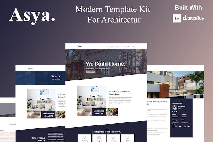 Asya - Moderne Architektur Elementor Template Kit