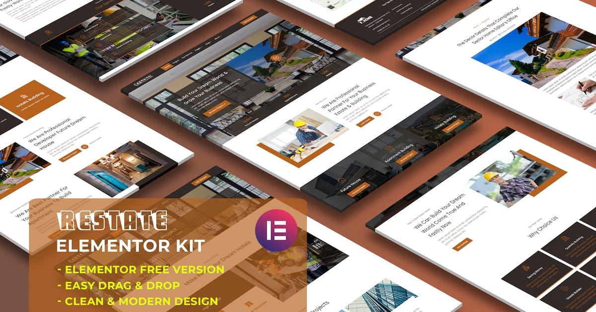 Download Restate - Construction Builder Elementor Template Kit by wirastudio