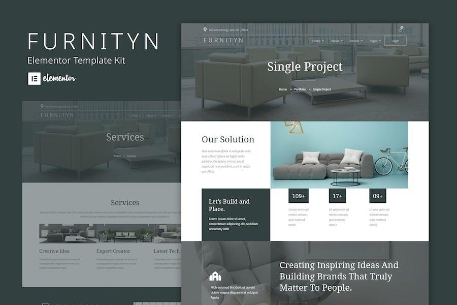Furnityn - Plantilla para kit de elementos de diseño de interiores