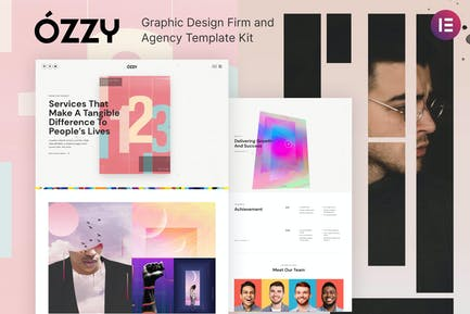 Ozzy - Graphic Design Firm and Agency Template Kit